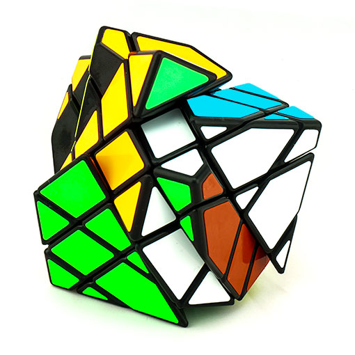 moyu-axis-cube-black-scrambled